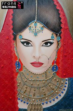 Frank's Art - Indian bride painting Oriental Breeze