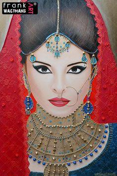 Indian bride painting Oriental Breeze
