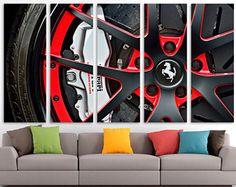 Sport Car print, Ferrari canvas, Ferrari wheel, Hot wheels, Cars Wall Art canvas, Cars, Large Canvas