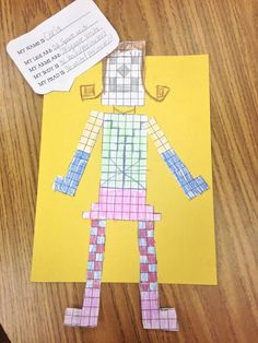 Students create an area and perimeter robot using a task card with specific measurements! Fun way to practice a tough skill!