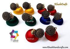 Silk Thread  jhumkas Silk Thread Jhumkas, Thread Jewellery, Jewelry, Jewlery, Jewerly, Schmuck, Jewels, Jewelery, Fine Jewelry