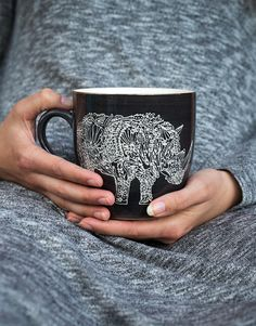 RHINO XL MUG grey | Mugs/cups | null | Glass and Porcelain | Home | INDISKA Shop Online