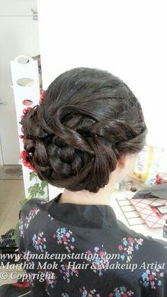 Bridal Makeup & Bridal Hair Styling.Asian Wedding makeup and hair styling by Martha Mok. Www.dmakeupstation.com #Wedding hair #Wedding Makeup #bridal hair #bridal makeup #hair styling #Asian makeup artist #natural makeup #Wedding