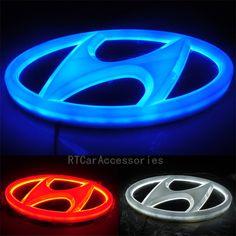 4D IX35 Santafe Genesis Coupe I30 Verna Elantra Sonata Tucson Rear Lights Hyundai LED Emblem, Hyundai Lighted Emblem $22.99
