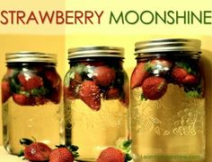 strawberry moonshine, infused, homemade moonshine