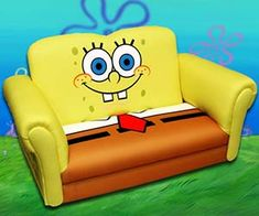 There's no better place to waste away an entire day watching cartoons than on the Spongebob Squarepants couch. The couch is shaped like our favorite underwater...