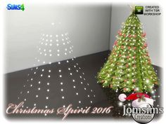 christmas spirit 2016 deco light for christmas tree. area floor lamp Found in TSR Category 'Sims 4 Floor Lamps'