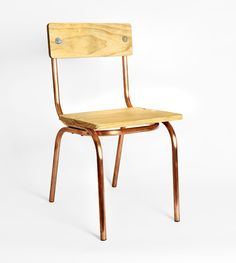 copper tube chair