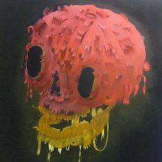 painting by Charlie Immer Human Skull, Pop Surrealism, Skull Art, Kitsch, Pop Art, Contemporary Art, Street Art, Skulls, Rock Lobster