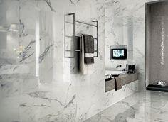 Marvel Calacatta Extra Gloss Glazed Ceramic Wall Tile - Bathroom Wall Tiles - Shop By Room - Tiles Best Flooring, Flooring Options, Flooring Ideas, Concorde, Bathroom Flooring, Bathroom Wall, Bathroom Ideas, Master Bathroom, Tile Flooring