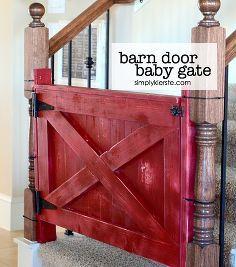 wordworking baby gate barn door, diy, woodworking projects
