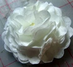 Coffee filter flowers. Use watercolor paints and a spray bottle to add color.