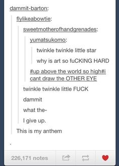 For all the frustrated artists