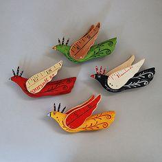 Baby Birds: Elizabeth Frank: Wood Ornament   Artful Home