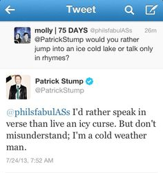 I see what you did there ;) This is why I love Patrick!
