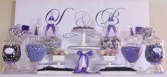 Lavender Wedding Candy Buffet #candy #wedding