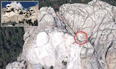 Sculptor Gutzon Borglum who created the president heads on Mount Rushmore, South Dakota,  also designed a hidden room behind Abraham Lincoln's face to house a history of the USA.