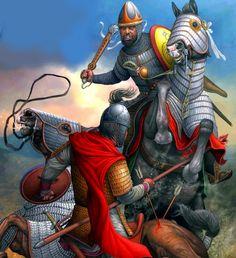 combate entre bizantino y sasánida, cortesía de Ángel García Pinto.