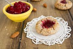 Raspberry Almond Thumbprint Cookies (Gluten-Free & Vegan)