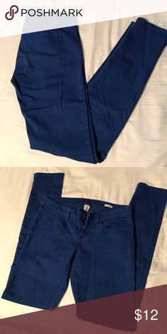 Royal Blue skinny jeans Worn a few times but in great condition. They are a juniors size (3). Jeans Skinny