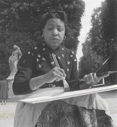 Artist Lois Mailou Jones (1905 – 1998):  Lois Mailou Jones was an artist who painted and influenced others during the Harlem Renaissance and beyond, during her long teaching and artistic career.