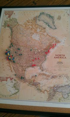 Travel map. Pin where you have traveled in your lifetime :)