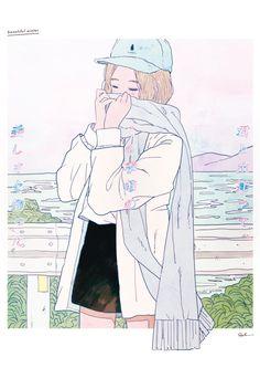 極夢幻的日本插畫,畫出我們少女會心有戚戚焉的情境,忍不住在心裡吹起一陣小清新! - PopDaily 波波黛莉的異想世界