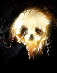 Skull Illusion with Zombies