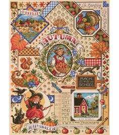 Janlynn Counted Cross Stitch Kit Autumn Sampler