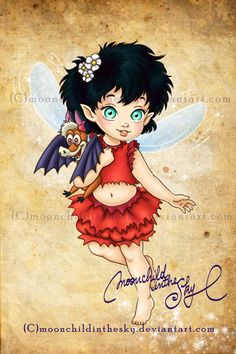 Anyone remember this? Child Crysta by MoonchildinTheSky on deviantART.it's Disney? Disney Amor, Arte Disney, Disney Fan Art, Disney Love, Disney Stuff, Non Disney Princesses, Disney Princess Babies, Princess Art, Disney Characters