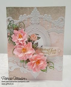 patriciamanhire – Creative Corner- where I show all my creative endeavours. Wedding Anniversary Cards, Wedding Cards, Happy Anniversary, Heartfelt Creations Cards, Card Sentiments, Shaped Cards, Marianne Design, Birthday Cards, Birthday Images