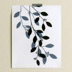 Seeded Eucalyptus Linocut Print by SamanthaHirstPrints on Etsy https://www.etsy.com/au/listing/497999056/seeded-eucalyptus-linocut-print