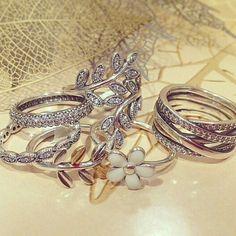 Pandora autumn collection rings Bijoux et charms à retrouver sur www.bijoux-et-charms.fr