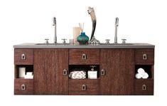 """60"""" Sonoma Coffee Oak Double Vanity"""