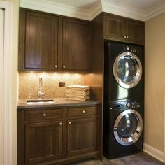 Stacked Washer And Dryer Design
