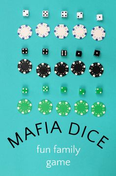 Mafia dice is a fun family game that all ages can play. Because the dice game relies on the luck of the roll instead of strategy, all ages can play with the same advantage. Games To Play With Kids, Fun Activities For Kids, Family Game Night, Family Games, More Games, Fun Games, Dice Game Rules, Educational Games, Pranks