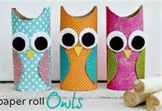 toilet paper roll owls - Bing Images