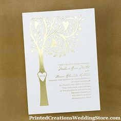 Your initials romantically carved in a tree trunk...perfect for a rustic wedding is this Carving Invitation available in different colors.  This wedding invitation design and many, many more are available at www.PrintedCreationsWeddingStore.