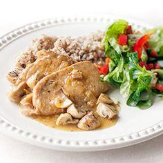 Schab gotowany w sosie z pieczarkami | Kwestia Smaku