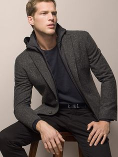 WOOL JACKET WITH HOOD