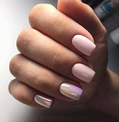 Want a fun summer manicure but think pink nail designs aren't your thing? Miss Nail Addict, listen up. Pink isn't what you remember from your very first manicure. Trendy Nails, Cute Nails, Hair And Nails, My Nails, Pink Nail Designs, Nails Design, Prom Nails, Wedding Nails, Glitter Wedding