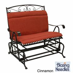 Blazing Needles Outdoor Loveseat Glider Hinged Seat U0026 Back Cushion   40 X  43 In. Luxury Azure   93458 REO 34 | Products | Pinterest | Glider Cushions,  ...
