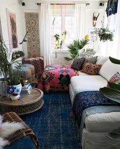 Cozy feeling room.   36 Best Bohemian Decorating Ideas   Domino