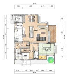 2階4LDK 家の中心にキッチンがある家 | シティハウス産業株式会社 Apartment Entryway, Apartment Design, Bedroom Decor For Women, House Viewing, Sims House, Room Planning, Cool Apartments, Japanese House, Luxury Decor