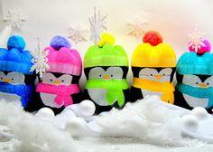 Enfeite de natal pinguins de garrafa pet