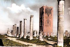 hassan tower ruins... look carefully, there is people on top.... rabat, Morocco