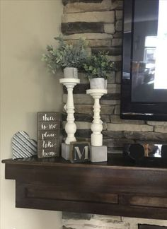 57 Ideas farmhouse style mantle love for 2019 #farmhouse