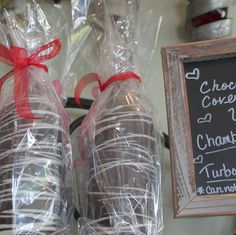 A quick look at Layton's Chance Vineyard & Winery's unique chocolate covered wine bottle.