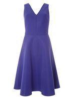 Womens **Tall Purple Fit and Flare Dress- Purple