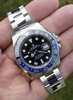 Rolex GMT C 116710 SS Never Worn Black Blue Batman WOW | eBay Dream Watches, Men's Watches, Sport Watches, Luxury Watches, Watches For Men, Rolex Batman, Rolex Gmt Master, Telling Time, Beautiful Watches